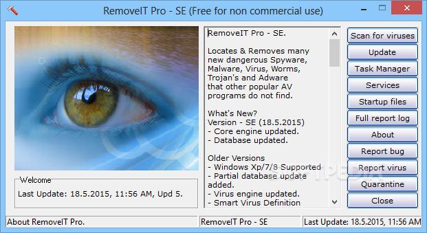 Photo of برنامج صغير لحذف فيروسات المالاوير والادوير  RemoveIT Pro SE 11.7.2016