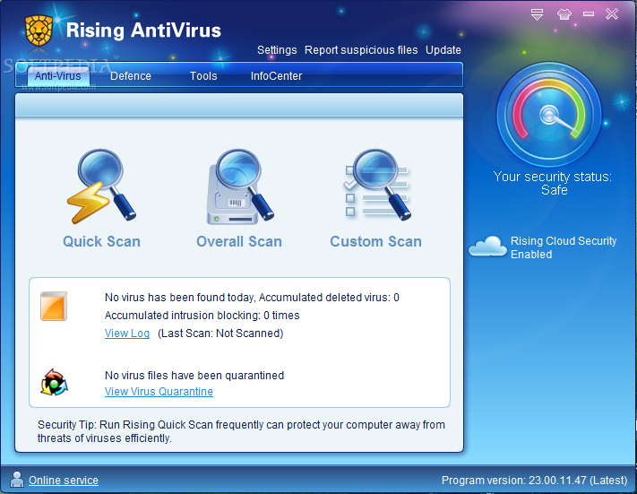 Photo of برنامج الاسد للحماية الشاملة Rising Antivirus Free Edition 23.01.31.52