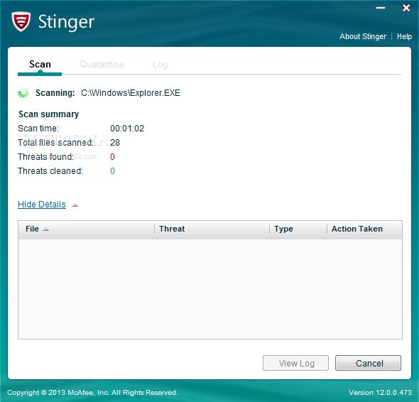 Photo of برنامج حماية صغير من شركة مكافى McAfee Stinger 12.1.0.1782